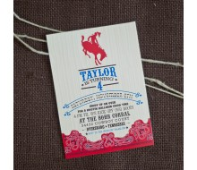 Cowboy Birthday Party Printable Invitation