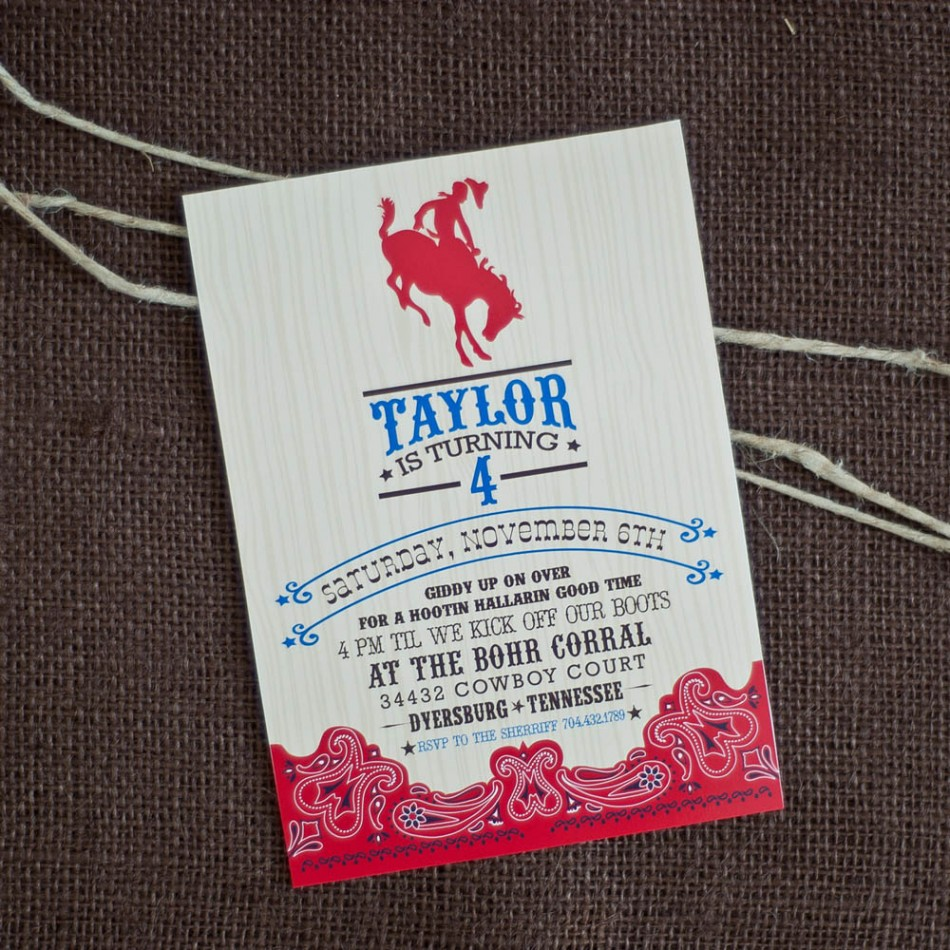 cowboy cowgirl birthday party invitation pictures to pin on, Party invitations