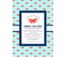 Crab Shack Nautical Birthday Party Printable Invitation