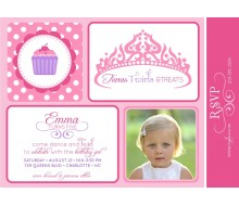Princess Cupcakes and Tiaras Birthday Party Printable Invitation