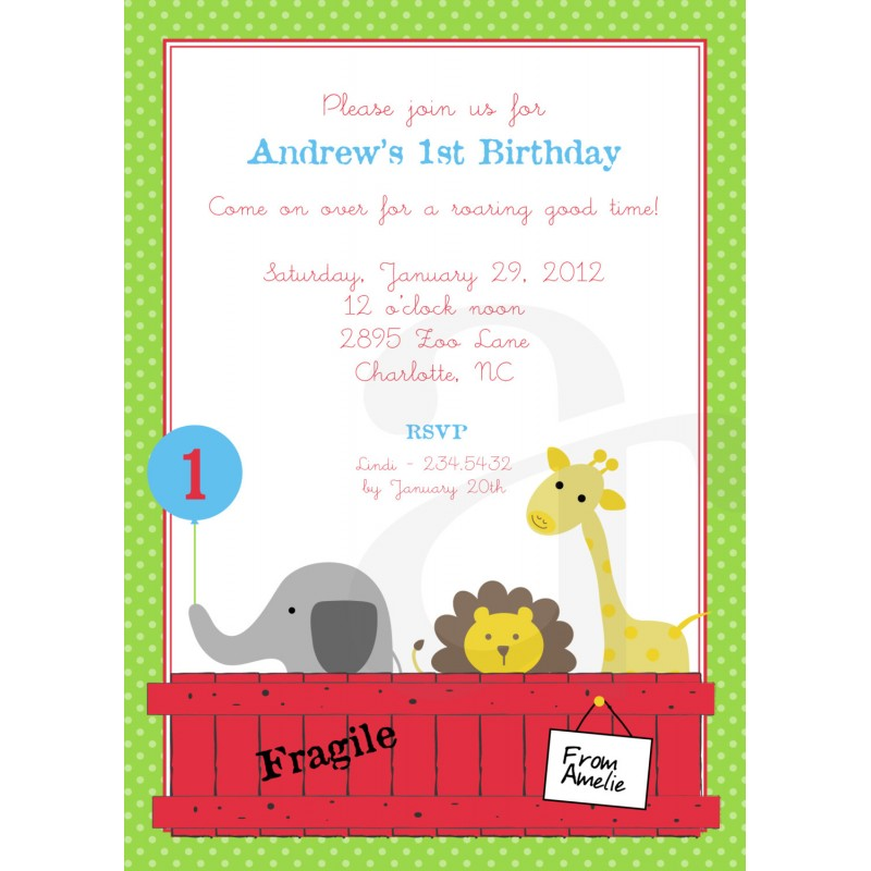 Dear zoo animals printable invitation stopboris Gallery