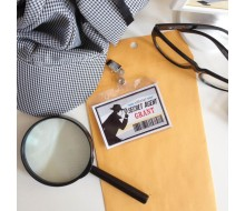 Detective Party Printable Customized Secret Agent Detective ID Badges