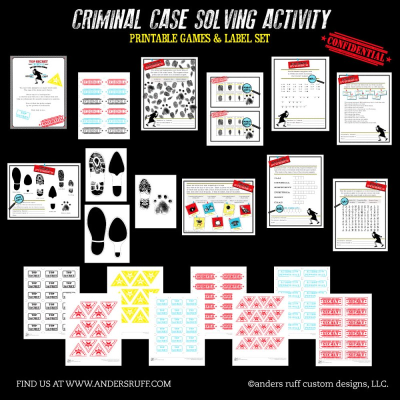photograph about Printable Detective Games titled Detective Social gathering Match - Prison Situation Resolving Match Fastened