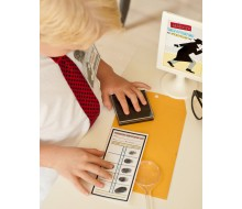 Detective Party Printable Fingerprinting Kit Cards and Sign - Instant Download