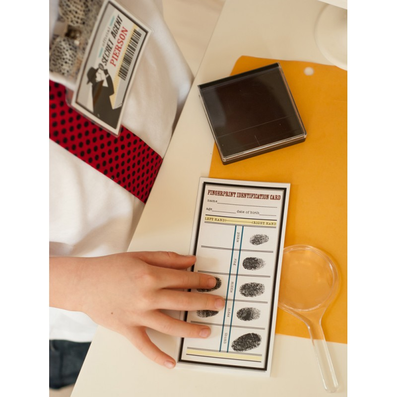 photograph relating to Printable Fingerprint Card identify Detective Occasion Printable Fingerprinting Package Playing cards and Signal