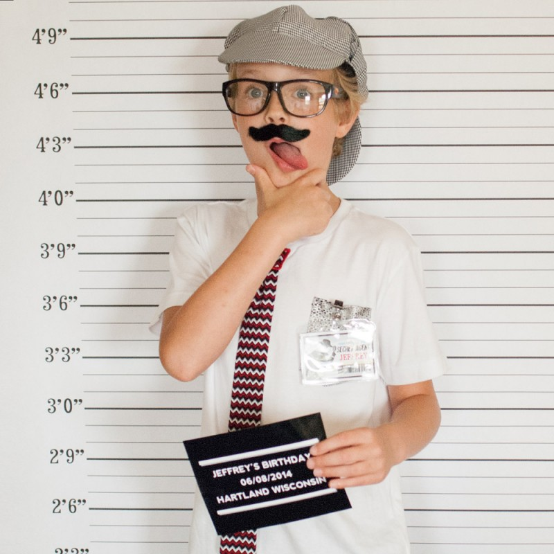 Detective party printable mug shot photo booth backdrop and prop solutioingenieria Images