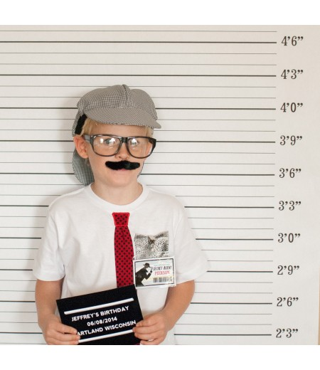 Detective Party Printable Mug Shot Photo Booth Backdrop and Prop