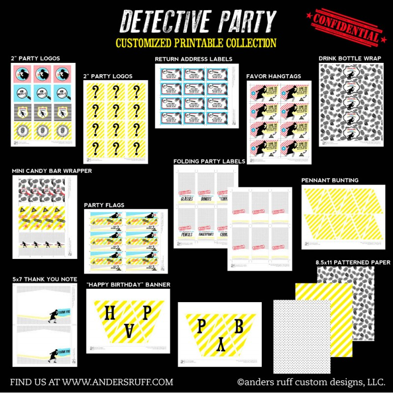 It's just a photo of Clean Printable Detective Games