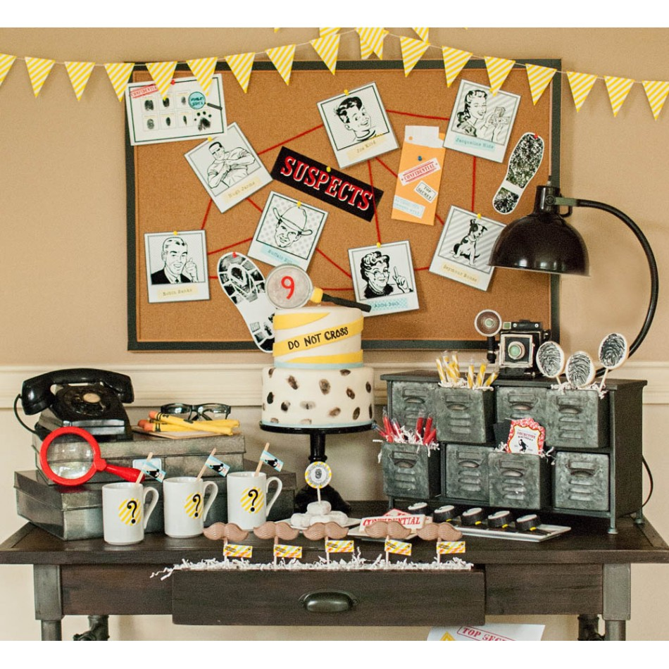 Detective party printable collection - Decoratie opgeschort wc ...