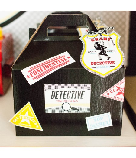 Detective Party Printable Detective Training Kit Labels and Tags - Instant Download