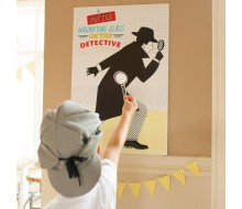 Detective Party Printable Pin the Magnifying Glass on the Detective Game Activity - INSTANT DOWNLOAD