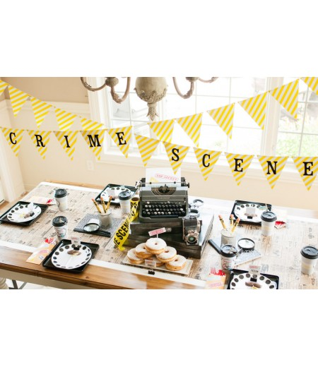 Detective Party Printable Crime Scene Banner - Instant Download
