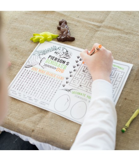 Dinosaur Birthday Party Printable Activity Sheet