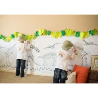 """Dinosaur Dig Excavation Party Printable Coloring Poster - 36"""" x 144"""""""