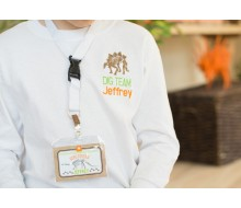 Dinosaur Dig Excavation Birthday Party Printable Name ID Badges