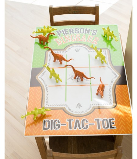 "Dinosaur Dig Excavation Printable Dig Tac Toe Game Board Poster - 20"" x 30"""