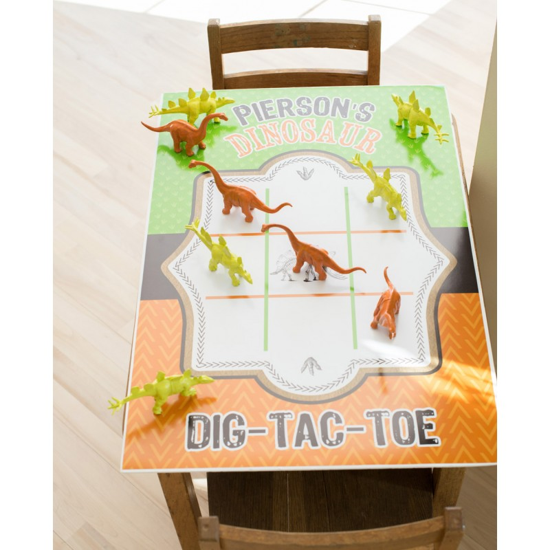 dinosaur dig excavation printable dig tac toe game board poster 20