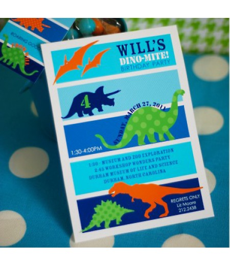 Dinosaur Birthday Party Printable Invitation