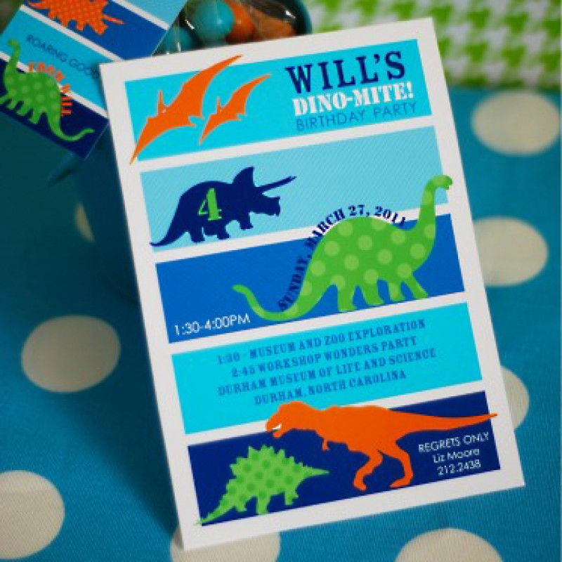 Dinosaur birthday party printable invitation stopboris