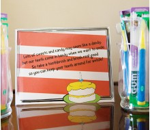 Seuss Inspired Printable Toothbrushing Sign
