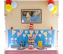 Seuss Inspired Birthday Party Printables Collection