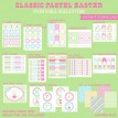 Classic Pastel Easter Printable Design Collection - Instant Download