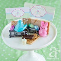 Easter Peeps S'mores Folding Bag Topper - Instant Download