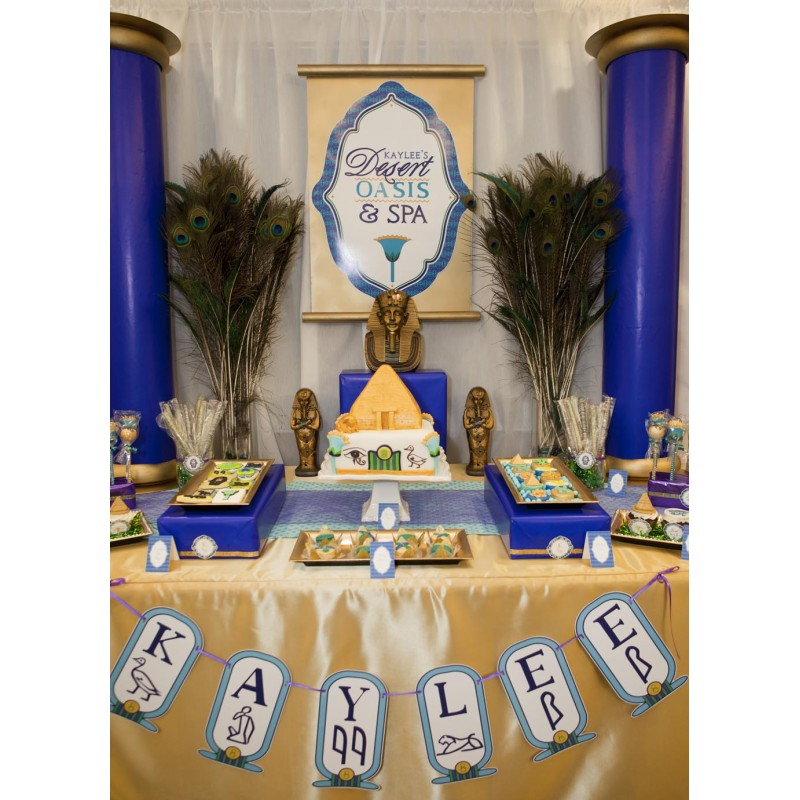 Egyptian Spa Birthday Party Printable Collection