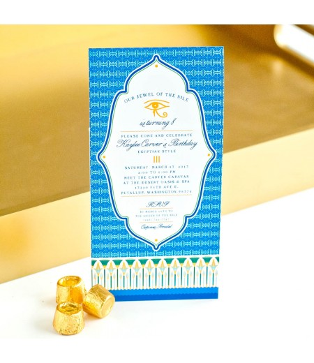 Egyptian party printable 4x8 invitation for 4x8 wedding invitations