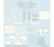 Elegant Baptism Printables Collection - Blues