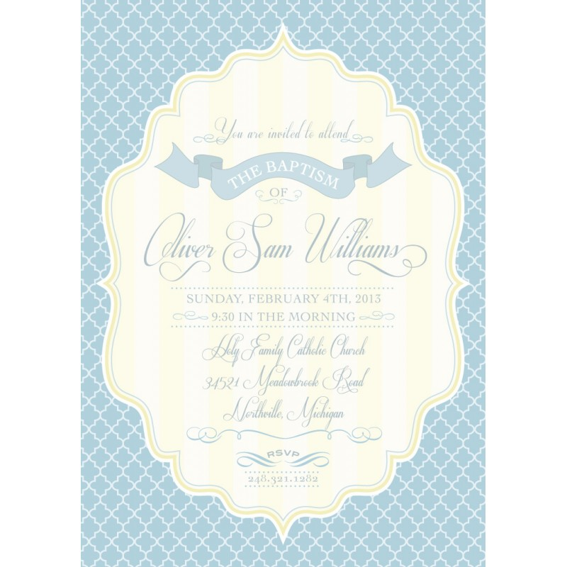 Baptism printable invitation baby blue grey and pale yellow elegant baptism printable invitation baby blue grey and pale yellow stopboris Gallery