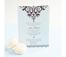 Elegant Cross Religious Baptism or First Communion Printable Invitation - Blue
