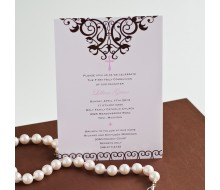 Elegant Cross Religious Baptism or First Communion Printable Invitation - Pink