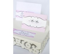 Elegant Mr and Mrs Folded Note Cards