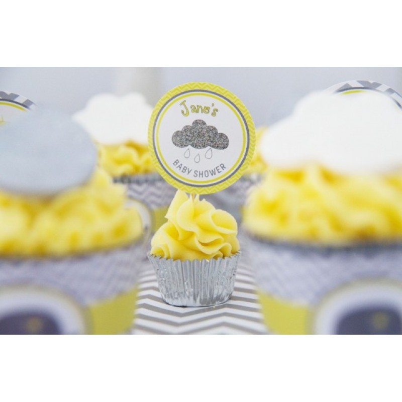 Yellow And Grey Elephant Baby Shower Printable Collection