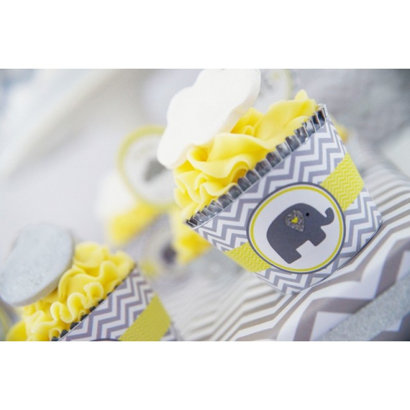 Baby Shower Images Yellow ~ Yellow and grey elephant baby shower printable collection