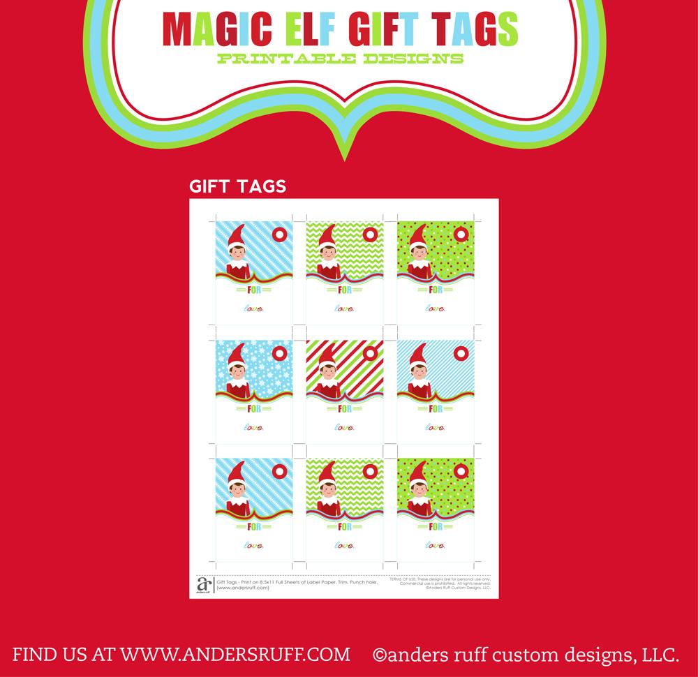 Freebie time ~ printable Elfie gift tags! - allsorts  |Christmas Elf Tag