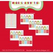Magical Elf Collection Christmas Printable Advent Calendar Hangtags - Instant Download