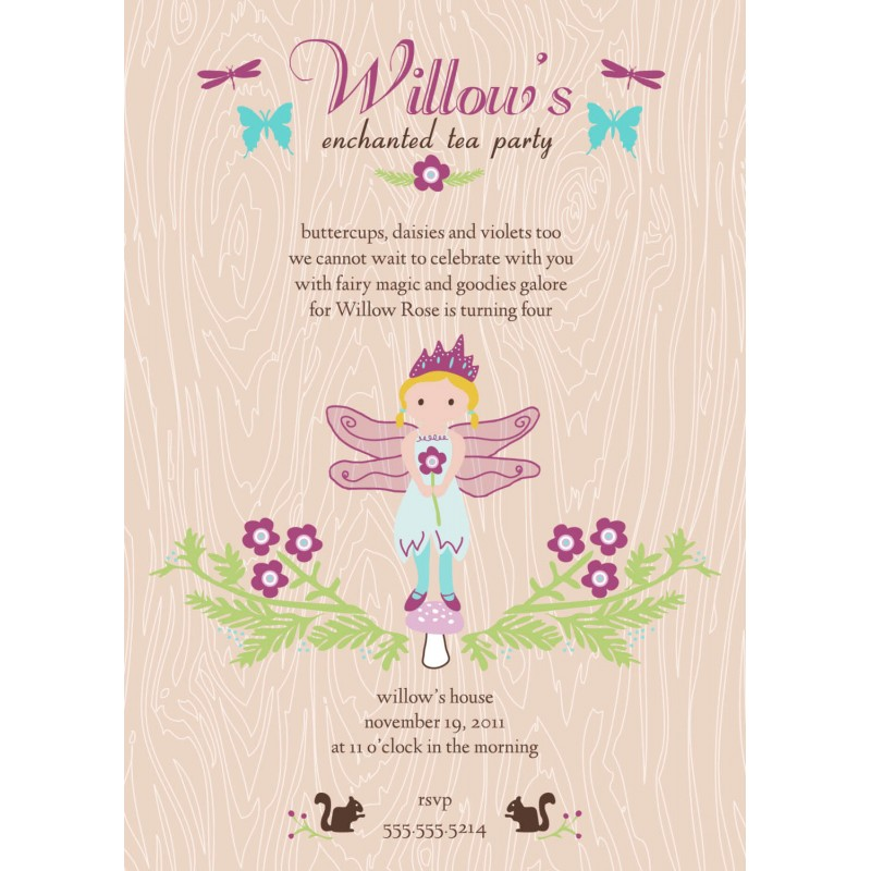 Fairy Tea Party Printable Invitation – Fairy Tea Party Invitations
