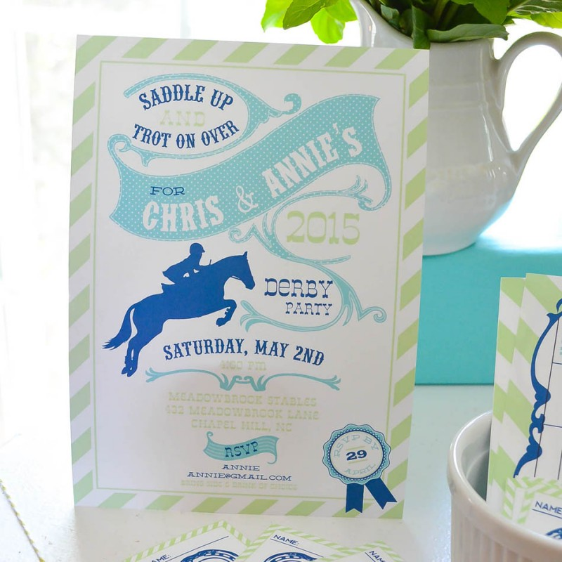 Derby Party Horse Race Party Printable Invitation – Derby Party Invitations