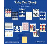 Fairy Tale Beauty Birthday Party Printables Collection