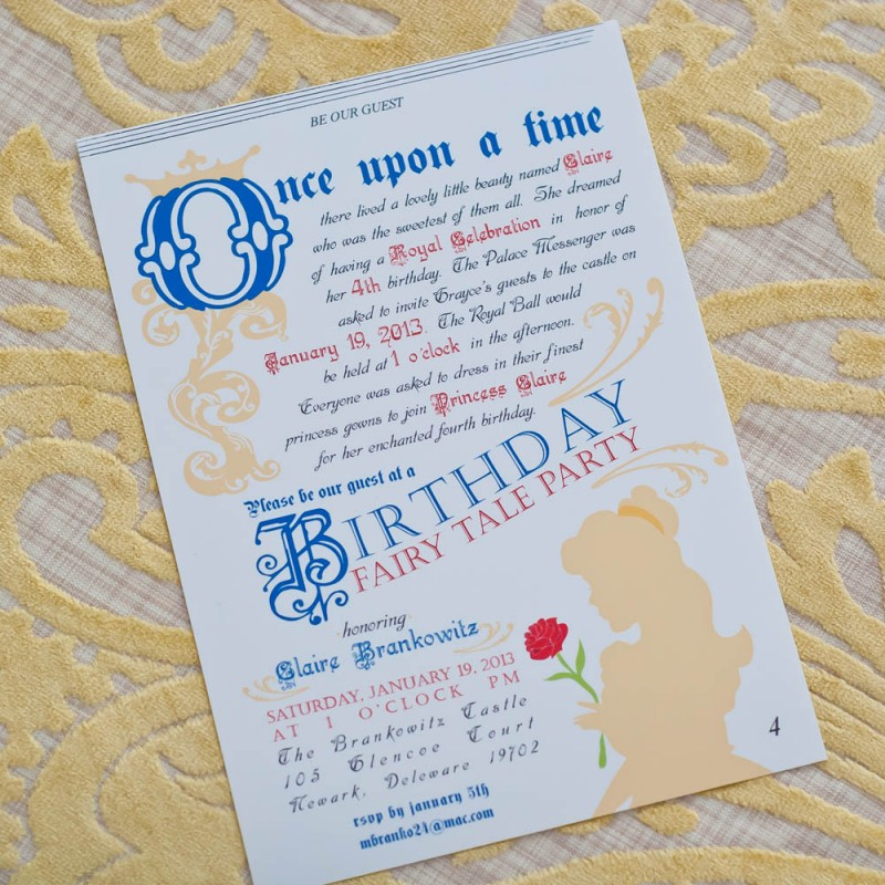 Beauty And The Beast Wedding Invitations – Beauty and the Beast Wedding Invitations