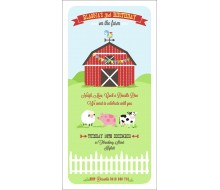 Classic Barnyard Farm Birthday Party Printable Invitation