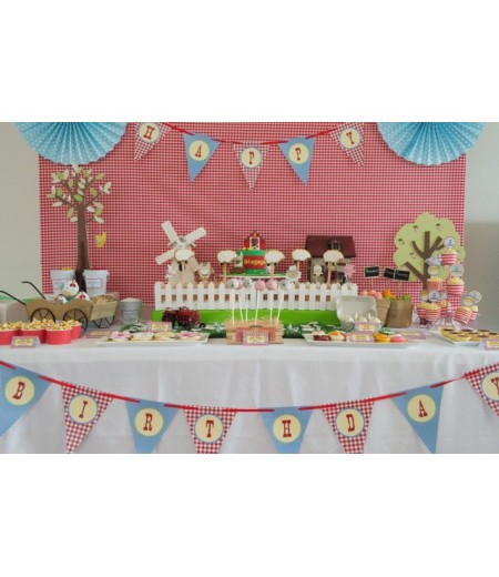 Classic Barnyard Farm Birthday Party Printables Collection