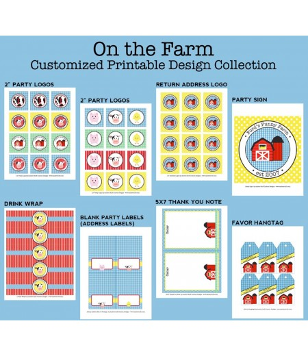 On the Farm Birthday Party Printables Collection