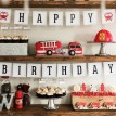 Firetruck and Dalmation Birthday Party Printables Collection