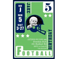 Football Card Birthday Party Printable Invitation