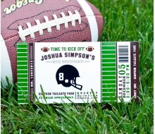 Football Ticket 4x8 Birthday Party Printable Invitation