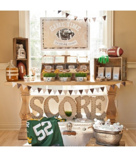 Vintage Football Party Printable Full Collection - Instant Download