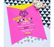 Foxy and 40 Birthday Party Printable Invitation